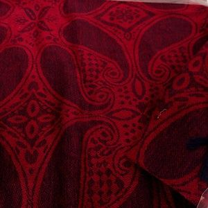 D&G Pashmina in Burgundy Red Paisley Cashmere Silk